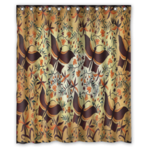 Batik Indonesian Arts #05 Shower Curtain Waterproof Made From Polyester - $29.07+