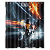 Battlefield #03 Shower Curtain Waterproof Made From Polyester - $29.07+