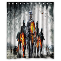 Battlefield #08 Shower Curtain Waterproof Made From Polyester - $29.07+