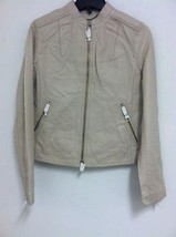Authentic COACH F82389 Women's KRA Leather Racer Jacket BONE - Small - NWT $458 - $214.12