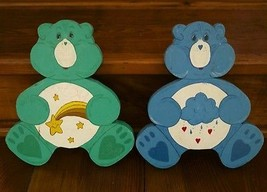 Pair 2 Vintage 1986 Hand painted CARE BEARS Gre... - $25.49