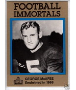 1985 Football Immortals #78 George McAfee -Chicago Bears- - $1.99