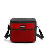 5L portable cooler bag lunch bag thermostat Refrigerated ice pack shawl red - $11.99