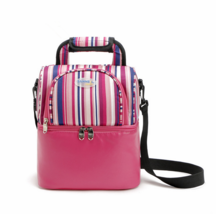 Double stripes portable picnic bag lunch bag shawl refrigerated storage ... - $16.99