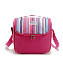 6L Portable cooler bag picnic lunch bag shawl refrigerated ice pack pink - $12.99