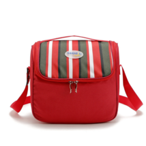 6L Portable cooler bag picnic lunch bag shawl refrigerated ice pack red - $12.99