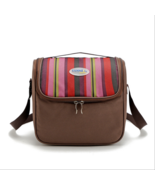 6L Portable cooler bag picnic lunch bag shawl refrigerated ice pack brown - $12.99