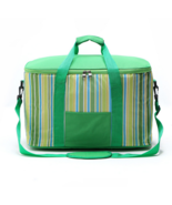 34L large ice pack picnic bag thicker insulation package delivery green - $22.99