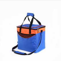 Open top waterproof backpack 36L large outdoor picnic package blue - $21.99