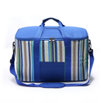 34L large ice pack picnic bag thicker insulation package delivery blue - $22.99