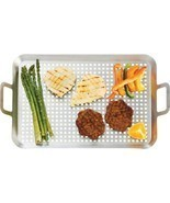 Stainless Steel Kabob Grilling Tray BBQ Barbecue Cooking Utensils Tools ... - £16.82 GBP+