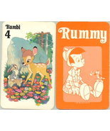 Disney Bambi & Thumper Rummy Card dated 1981 WDP rare - $10.99