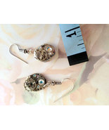 Watch Component Earrings, Steampunk Jewelry, Re... - $32.00