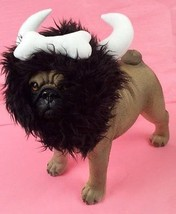 Bone Viking Warrior Horn Headpiece Costume For Dogs Realistic Plush Fuzz... - $32.87+