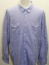 Calvin Klein Violet Plaid Long Sleeve Men Shirt 100% Cotton XXL Polo Dress - $28.04