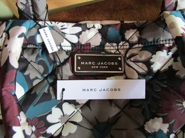 Marc Jacobs Bag Quilted Flower Small Tote Grey Burgundy NEW $190 - $118.80