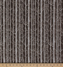 Cotton Bare Trees Forest Winter Woods Bark Cotton Fabric Print by Yard D... - $11.95