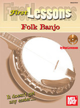 First Lessons Folk Banjo Book/CD Set by Dan Levenson - $8.00