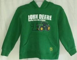 JOHN DEERE Boys Sweatshirt Hoodie Size 4 ~ Free... - $12.56