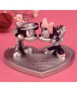 Disney Mickey & Minnie Valentine Pewter Figurine - $93.75