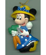 Disney Minnie Mouse blue dress bonnet ornament Cheap - $15.99