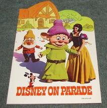 Vtg 1971 Disney on Parade Program Book Snow White, Fantasia, Pinocchio a... - $16.00