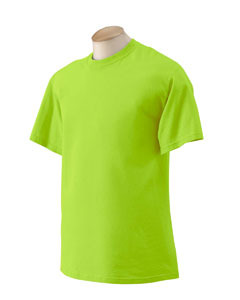 Primary image for Safety Green L Gildan G200 G2000 Tshirt Ansi Osha approved high visibility verde