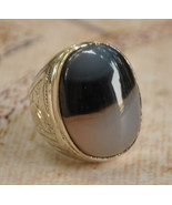 Silver agate aqeeq Men Ring-Middle Eastern-yeme... - $58.41