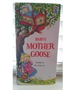 Baby's Mother Goose Book 1959 Vintage Rare So Tall Board Books By Grosse... - $18.00
