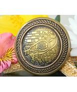 Raven bird brooch pin book of kells patrick conlin brass bronze 1996 thumbtall