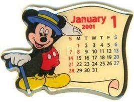 Disney Mickey Mouse Japan Calendar rare pin/pins - $18.39