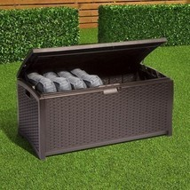 Storage Deck Box Outdoor Patio Pool Backyard Garden Furniture Bench Wick... - $139.99