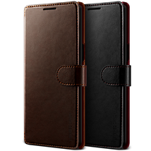 For Samsung Galaxy Note 8 Case VRS®[Layered Dandy] Magnetic Leather Wall... - $19.99