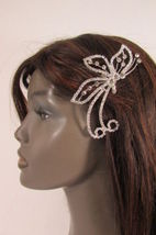 Women Silver Metal Head Fashion Jewelry Butterfly Hair Pin Bridal Wedding Party image 5