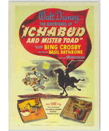 Disney Ichabod and Mister Toad Bing Crosby poster - $0.99