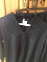 black embroidered blouse & pants size medium - $24.99