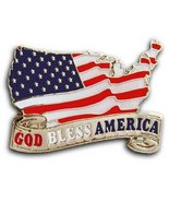 911 Flag Lapel God Bless America Pin/Pins Badge - $10.99
