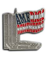911 Twin Towers Lepel USA Flag Cheap Pin/Pins Badge - $10.99