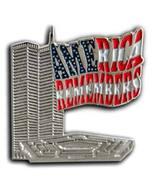 911 Twin Towers Lepel USA Flag Cheap Pin/Pins Badge - $10.99