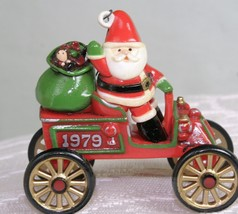 Hallmark HERE COMES SANTA Ornament 1979 Santa's Motorcar 1st  QX1559 no box - $98.02