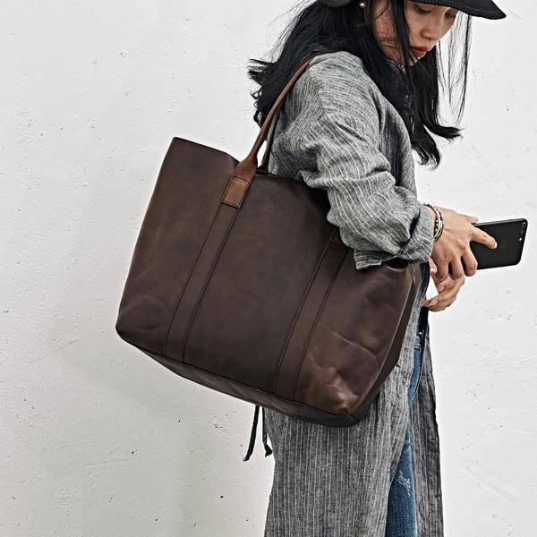 On Sale, Handmade Women Tote Bag, Full Grain Leather Shoulder Bag