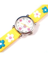 Flower Watch Yellow Band Strap Rubber Material Adjustable - $9.99