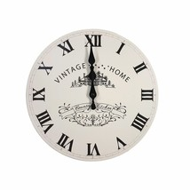 VINTAGE HOME COUNTRY KITCHEN 29CM BLACK CREAM WALL CLOCK - $16.80