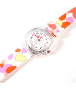 Heart Watch Multicolor White Plastic Band Strap... - $9.99