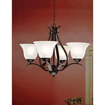Ceiling Light Fixture Hanging Chandelier Pendant Iron Wood Lamp Elegant ... - £118.51 GBP