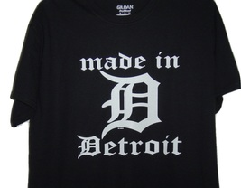 FREE SHIPPING MADE IN DETROIT WITH OLD ENGLISH D IN THE MIDDLE  BLACK T/... - $15.99+