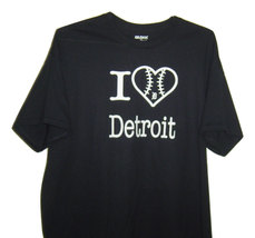 """Free Shipping Detroit  funny T/Shirt black """" I love Detroit """" with heart... - $15.99+"""