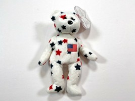 Glory TY Beanie Baby Original Retired July 4th, 1997 With Rare Tag Error - $100.00