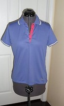 Fila Performa Golf Shirt Size M Purple Stretch Nwt - $20.44
