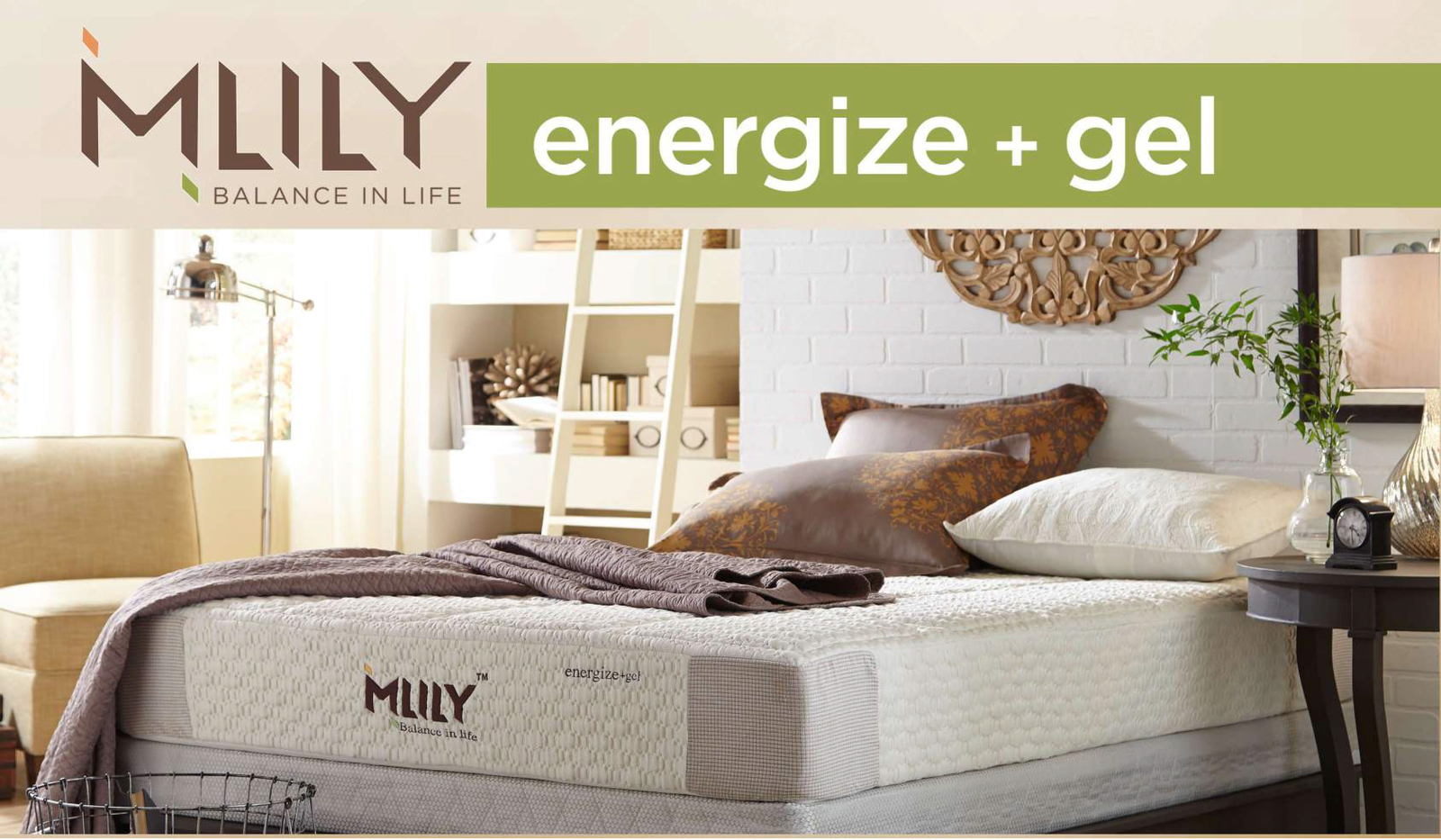 MLILY Memory Foam Mattress - Energize - Queen